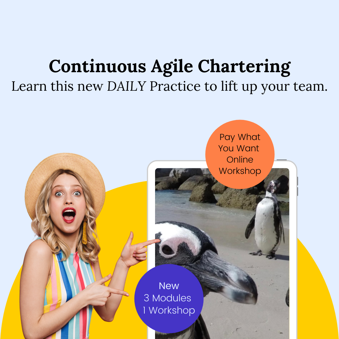 Continuous Agile Chartering Workshop - Pay What You Want - One Module / 3 Workshop